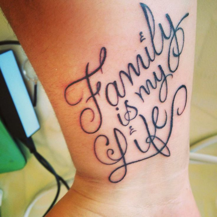 Este es mi 4to tattoo family is my life la familia es for My family tattoo
