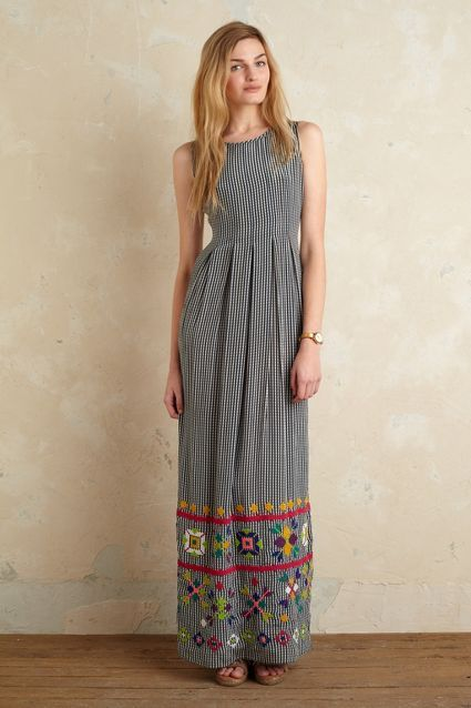 Devi Gingham Maxi Dress - anthropologie.eu