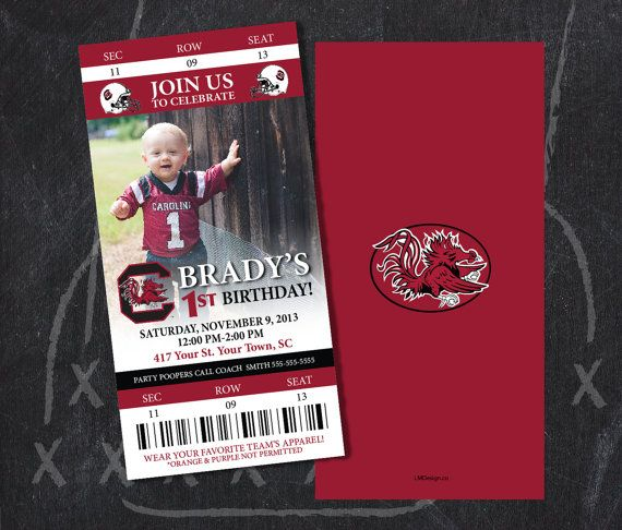University of South Carolina, Gamecock Ticket Party Invitation by LM Design  www.lmdesign.co