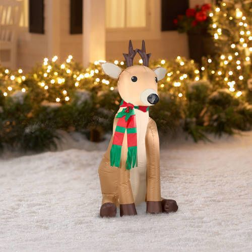 Christmas Inflatables Reindeer Airblown Outdoor Yard Holiday Winter Decor Xmas  #1