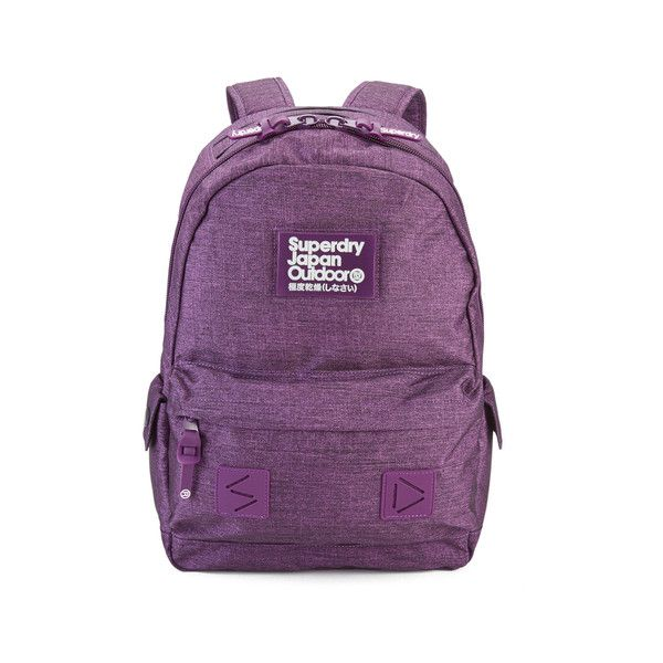Superdry Women's Simba Montana Backpack - Plum (€52) ❤ liked on Polyvore featuring bags, backpacks, superdry bag, polyester backpack, superdry, knapsack bag and day pack backpack
