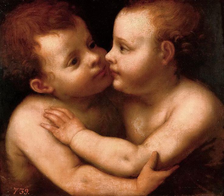 Луини (копия), Бернардино -- Маленькие Иисус и Иоанн Креститель вобнимку. Часть 1 Музей Прадо
