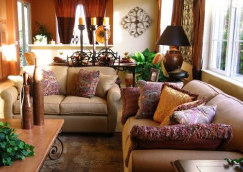 Earthy living rom earth tone living room earth tone for Living room ideas earth tones