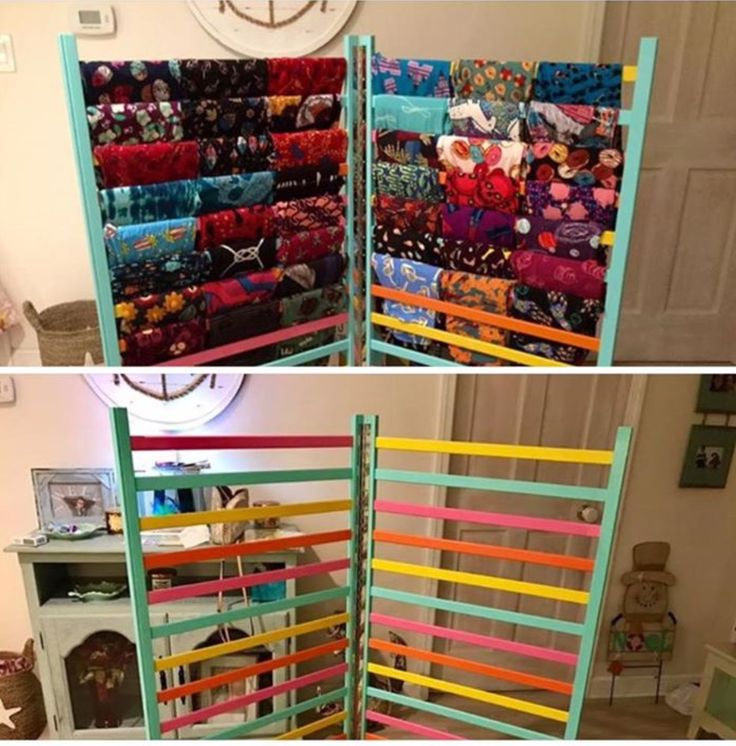 Repurposed crib rails to hold the LuLaLoot!