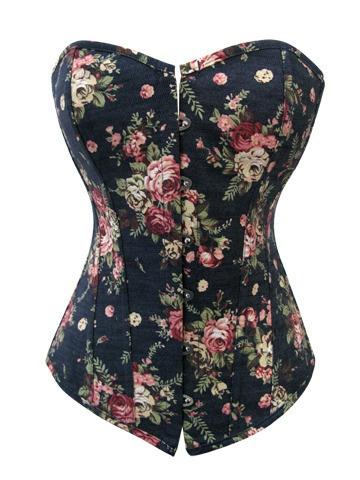 Floral corset