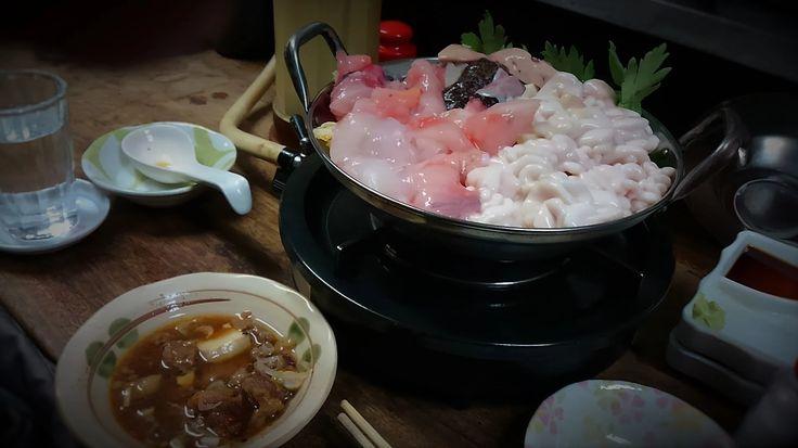 アンコウ&白子鍋と牛煮込みをにごり酒で一杯!