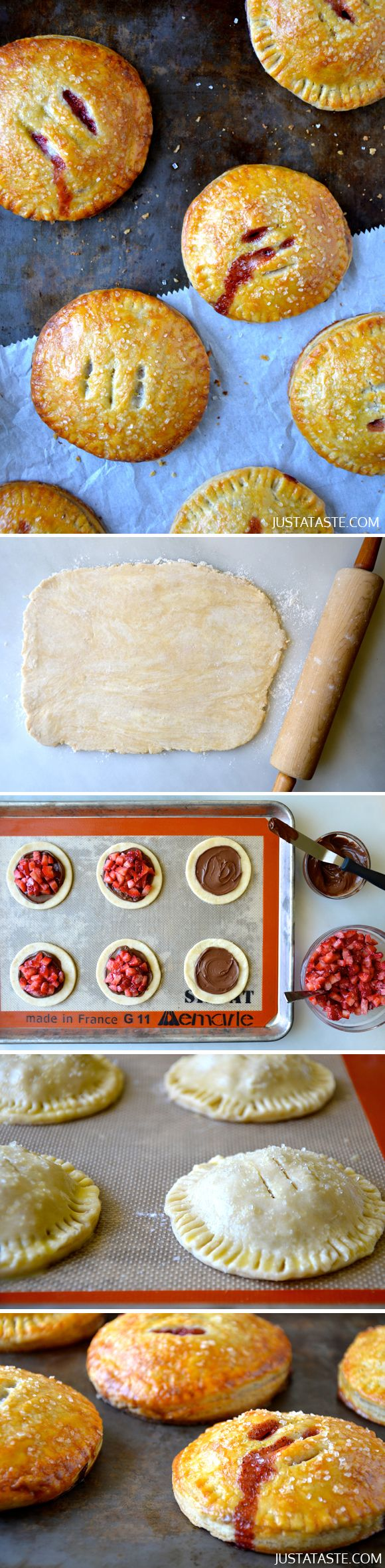 Strawberry Nutella Hand Pies #recipe