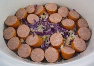 Paleo Kielbasa & Super Kraut Recipe for your Crock Pot