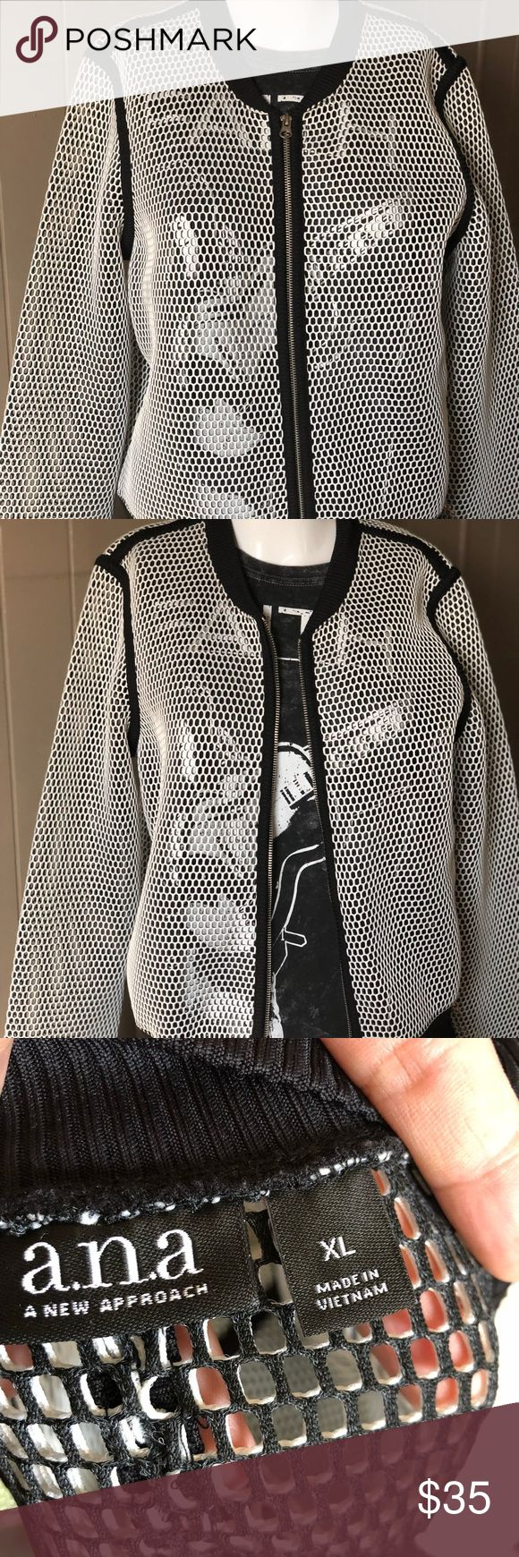 ❤️WOMANS BOMBER JACKET❤️ 🖤WOMANS FISHNET BOMBER JACKET! BRAND NEW WITH NO TAGS! 🖤 make an offer 😀 a.n.a Jackets & Coats