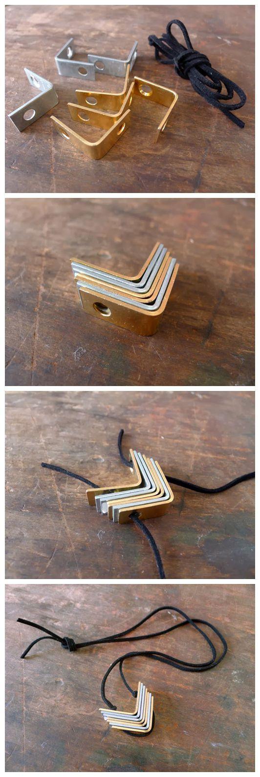 DIY Hardware Bracket Necklace-We Like Craft