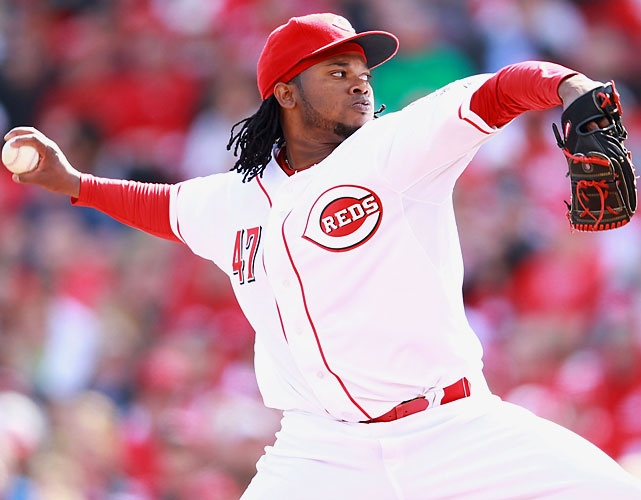 MLB's 2012 Opening Day Moments - Johnny Cueto went seven scoreless innings, striking out four and allowing just three hits as the Reds shut out the Marlins in their traditional home opener. It was Cincinnati's first opening day shutout since 1980.