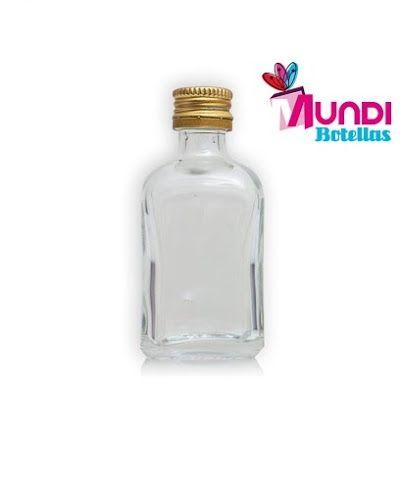 Frasca 50ml rosca dorada. Entrega en 24- 48 horas. http://www.mundibotellas.es/20-75-ml/frasca-50-rosca