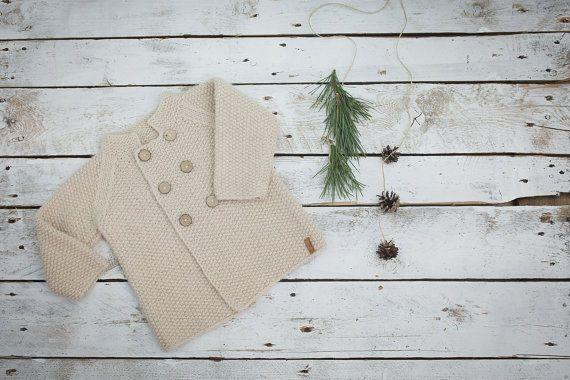 Cappotto beige del bambino / maglione di lana di GeraBloga su Etsy