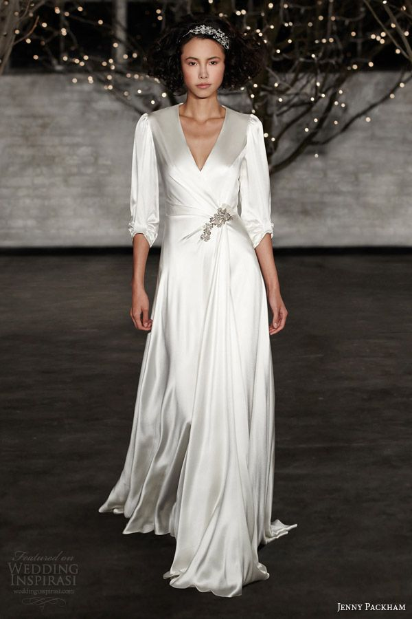 jenny packham wedding dresses spring 2014 bridal ingrid gown with sleeves