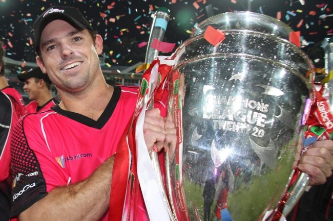 Michael Lumb claimed the man of the match award as his Sydney Sixers triumphed in the Champions League Twenty20 Final.