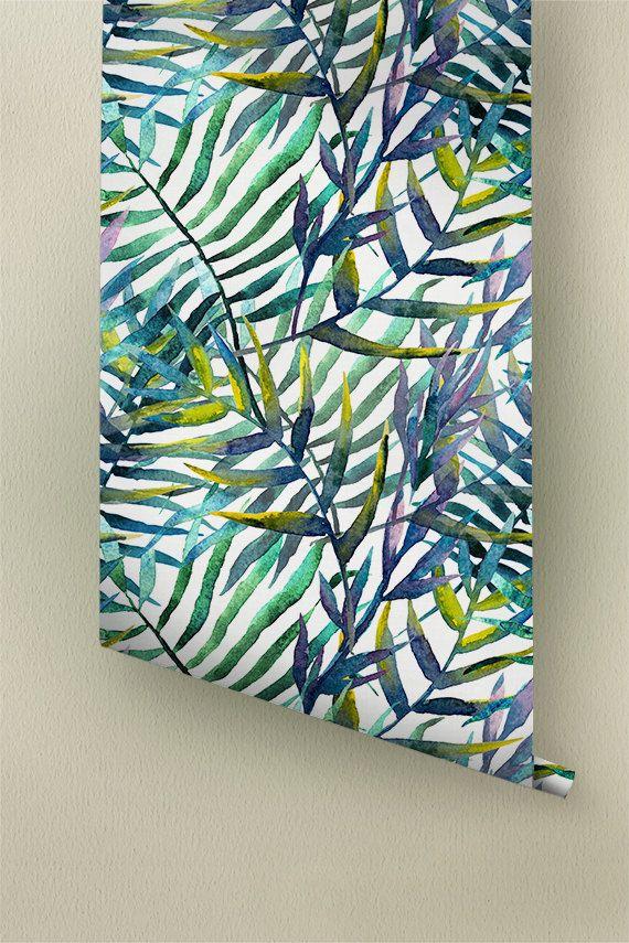 Tropicale dell'acquerello lascia il reticolo carta da