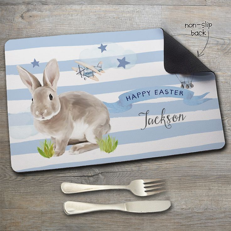 Our Personalised Non Slip Kids Placemats are the ultimate dinner accessory. Made from polyester with a non slip natural rubber backing, they are easy peasy to clean with just a damp cloth and will stop those messy tables and scratches. Personalise your mini peeps placemat by choosing a design and adding a name, nickname, or favourite phrase SA-WEET! Grab a matching Melamine Dinner set, Melamine Mug or Melamine plate to complete the set! SIZE: 40.6cm x 25.4cm RECOMMENDED CARE: Wipe clean with…