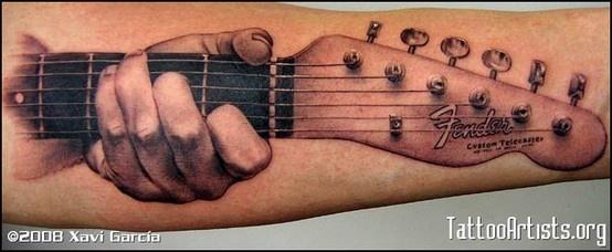 Fender Telecaster Guitar Tattoo