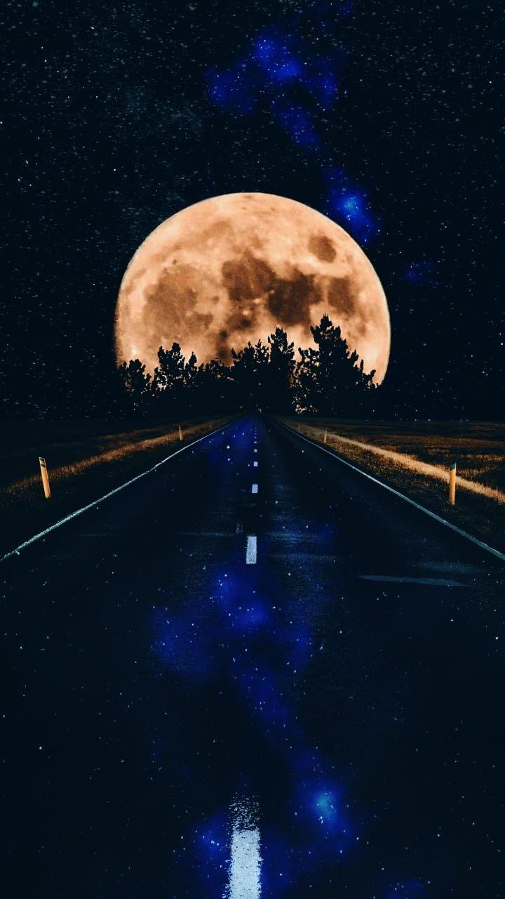 Fonds Décran Téléphones Cellulaires Route Vers La Lune