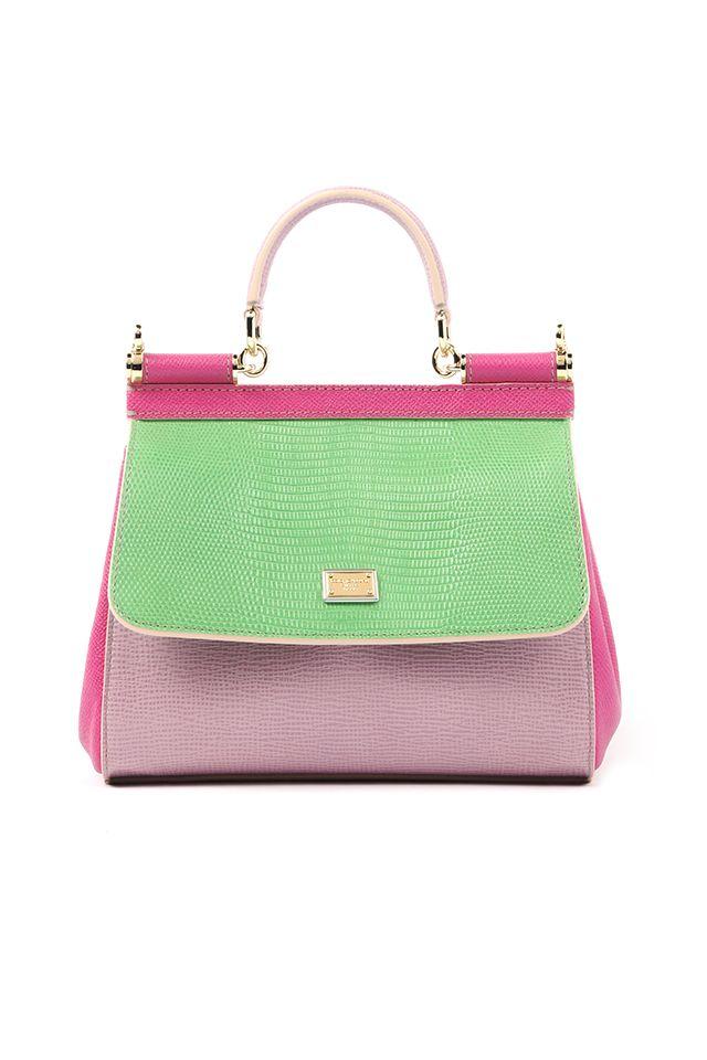 Top Handle Handbag On Sale, Chalk White Check, Leather, 2017, one size Dolce & Gabbana
