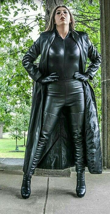 In Two Words: Amazon Unbound! | Long leather Coat ...