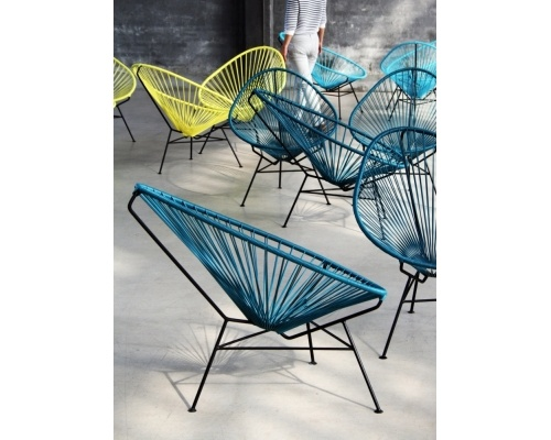The Acapulco chair is a classic Mexican chair. It takes its name from the famous Pacific resort.    In the 1950s, when the chair first went into production, Acapulco was the Hollywood hot spot. John Wayne, Elvis, and the Kennedys lounged on sunny terraces overlooking the Acapulco bay.