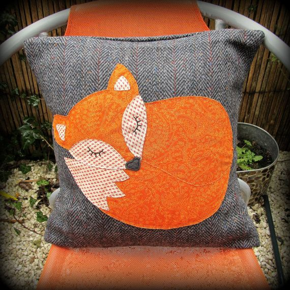 Snoozy fox cushion snoozy fox pillow. von TheSherbetPatch auf Etsy