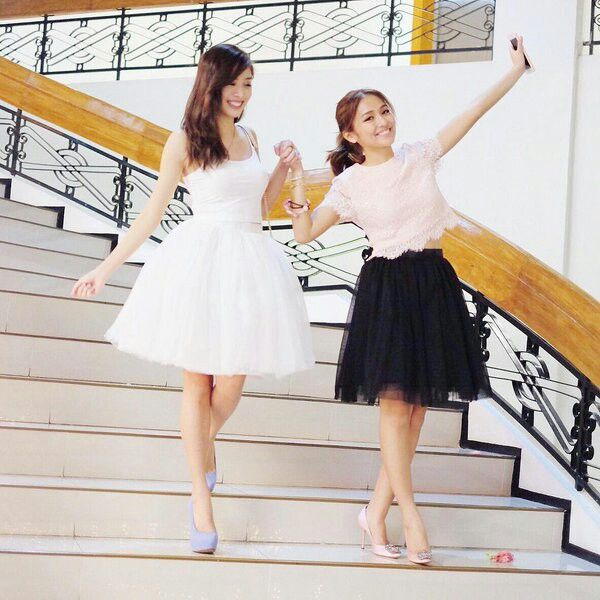 This is the pretty Kathryn Bernardo and the lovely Sue Ramirez smiling for the camera while preparing to go to Karla Estrada's 39th birthday after a taping of Pangako Sa 'Yo last November 2015. Indeed, Kathryn and Sue ae another of my favourite Kapamilyas, and they're amazing Star Magic talents. #KathrynBernardo #TeenQueen #SueRamirez #PangakoSaYo #KarlaEstradaBirthday #KarlaEstradaat39