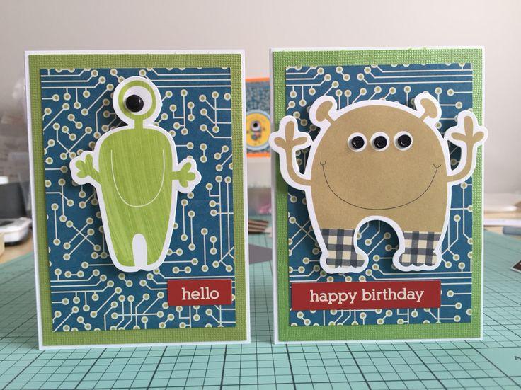 Alien birthday cards