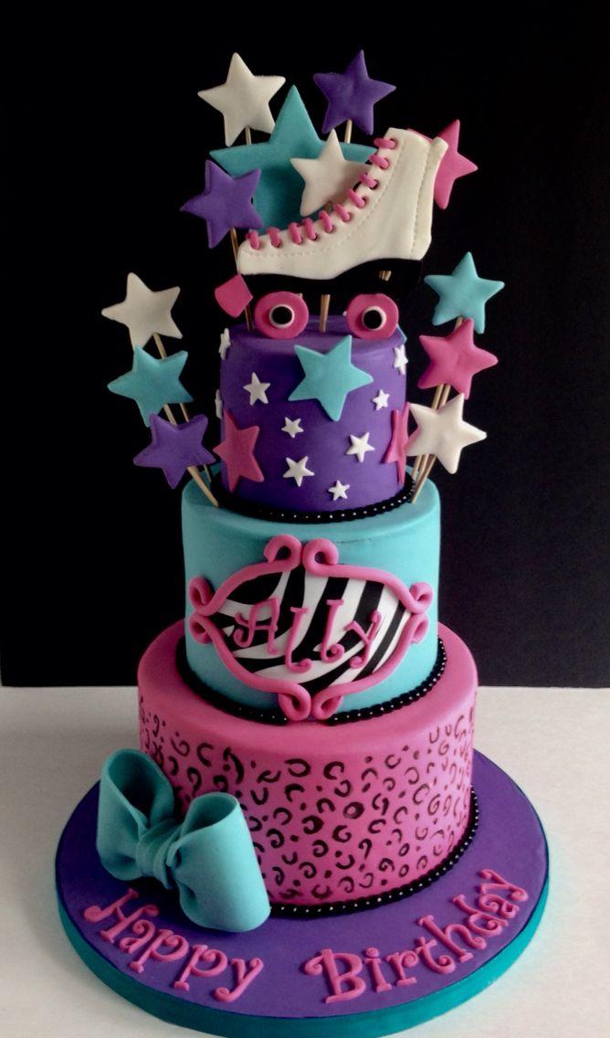 Image result for professional roller skate birthday cake