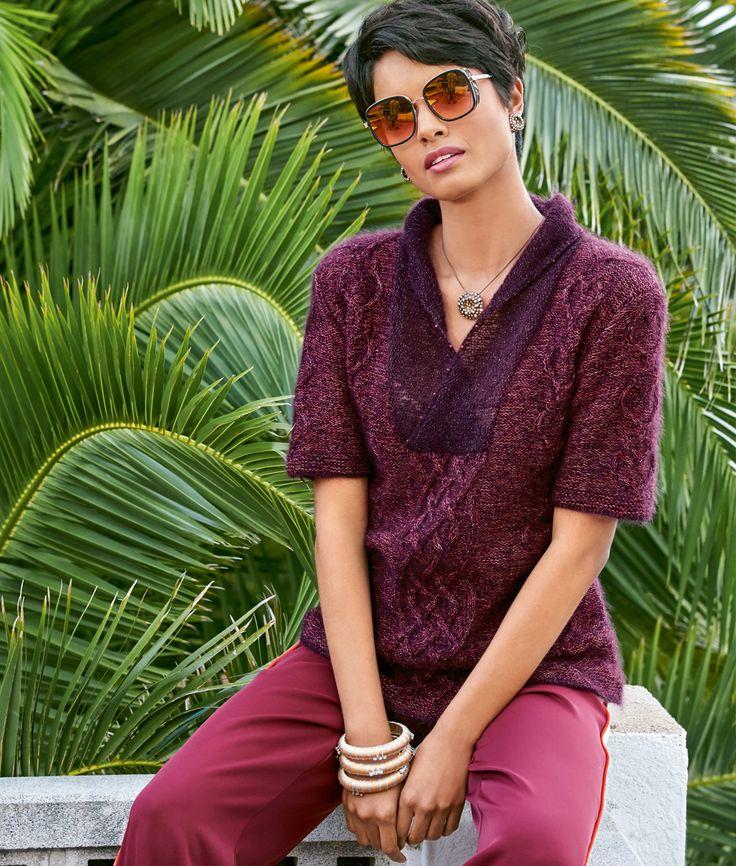 Пуловер с корткими рукавами