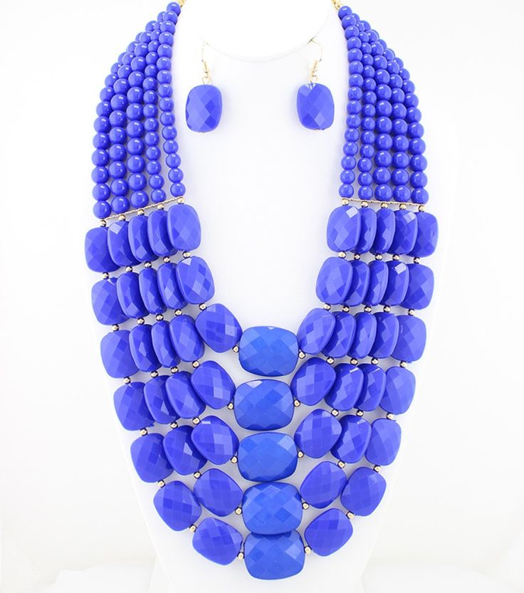 Royal Blue Necklace Set