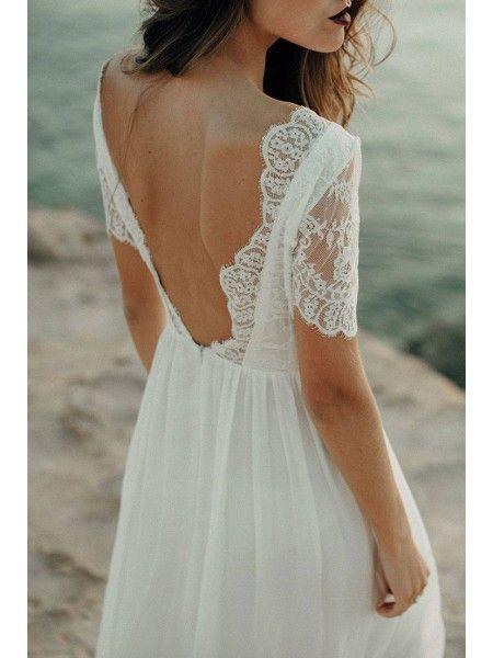 Sale Cute Wedding Dresses Lace Wedding Dress, Beach Wedding Dress, Lace Wedding …