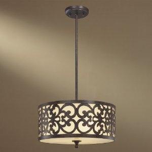 Minka-Lavery 1493-357 3 Light Pendant 3-100 W Iron Oxide Nanti