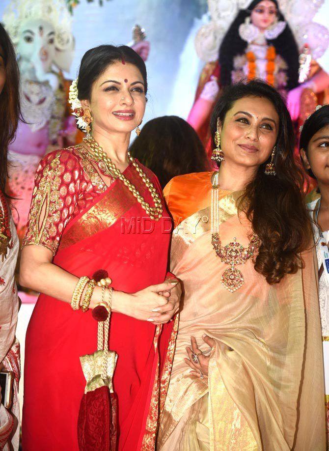 Photos: Rani Mukerji, Ranbir Kapoor, Alia Bhatt at Durga Puja event