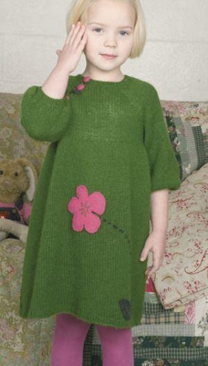 Pigekjole med lille blomst | Familie Journal