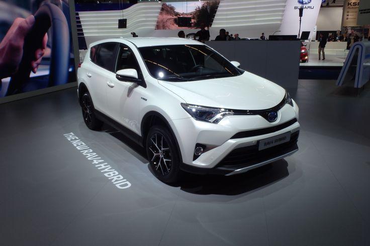 The 2016 Toyota RAV4 is shown at the Frankfurt motor show, adding Toyota Hybrid power, new design and upgraded equipment: http://blog.toyota.co.uk/toyota-rav4-hybrid-frankfurt. #Toyota #RAV4Hybrid #IAA2015