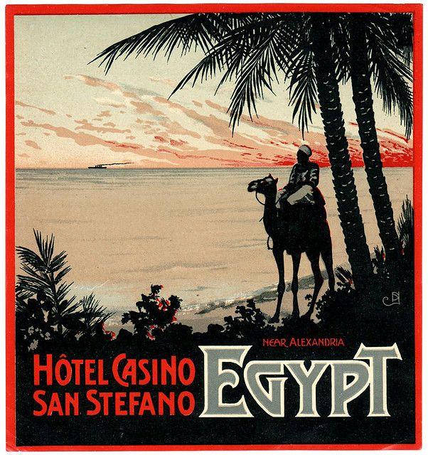Art of the Luggage Label: Hotel Casino San Stefano, Alexandria Egypt