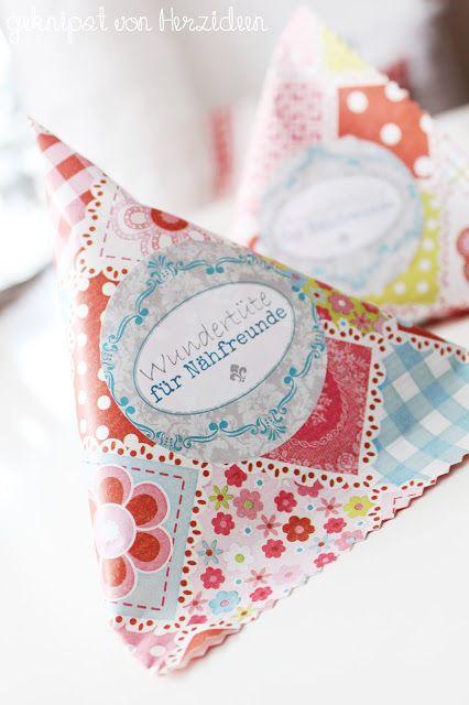 Wundertüte für Nähfreunde - Etikett zum ausdrucken http://ziermanufaktur.blogspot.de/