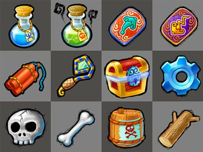 Game Icons by vcrjerry, on dribbble