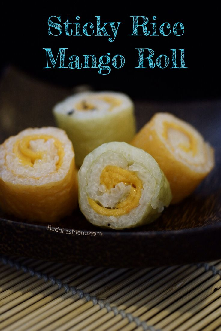 64 best taste of laos laotian food recipes images on pinterest sticky rice mango roll recipe a delicious appetizer or hors doeuvre forumfinder Gallery