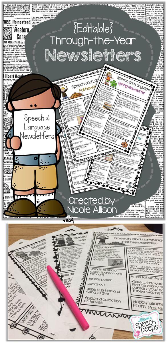 8 best Speech Newsletters images on Pinterest | Speech ...