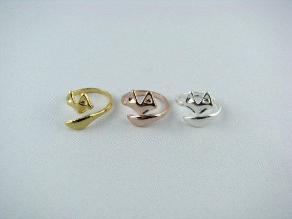 Fox Ring / Sterling Silver, 18K Gold, or Rose Gold Fox Ring / Silver Fox Ring / Gold Fox Ring / Rose Gold Fox Ring  / FoxJewelry