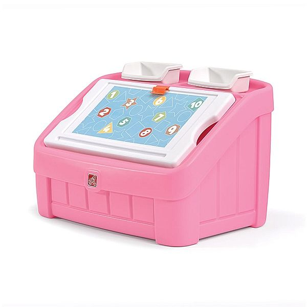 Step 2 2-In-1 Toy Box & Art Lid (Pink)