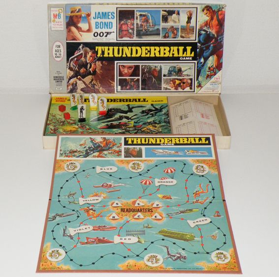 Today is Int'l #TableTopDay. James Bond Thunderball board game featuring Sean Connery by Milton Bradley (1965)