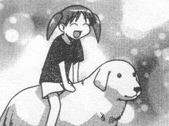 Chiyo and her dog Mr. Tadakichi from Azumanga Daioh