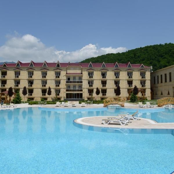 Kaspia Yeddi Gozal Gabala Offering An Outdoor Pool And A Spa Centre With A Sauna And Massage Qafqaz Yeddi Gozel Hotel Is Located I Outdoor Pool Spa Center Pool