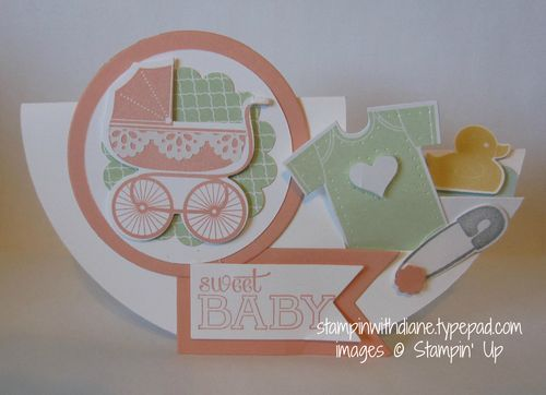 Something for Baby Bundle, Circle step card. Come like my face book page https://www.facebook.com/pages/Stampin-with-Diane/249204018555071