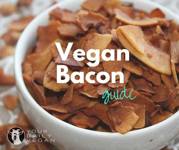 A Guide to Vegan Bacon   Bacon. We live in a world that is obsessed with it. Its smoky and salty flavor can be addicting and it's no wonder why bacon has a cult-like following. Being vegan doesn't mean denying yourself of all those familiar taste-tingling flavors you love, so of course there are