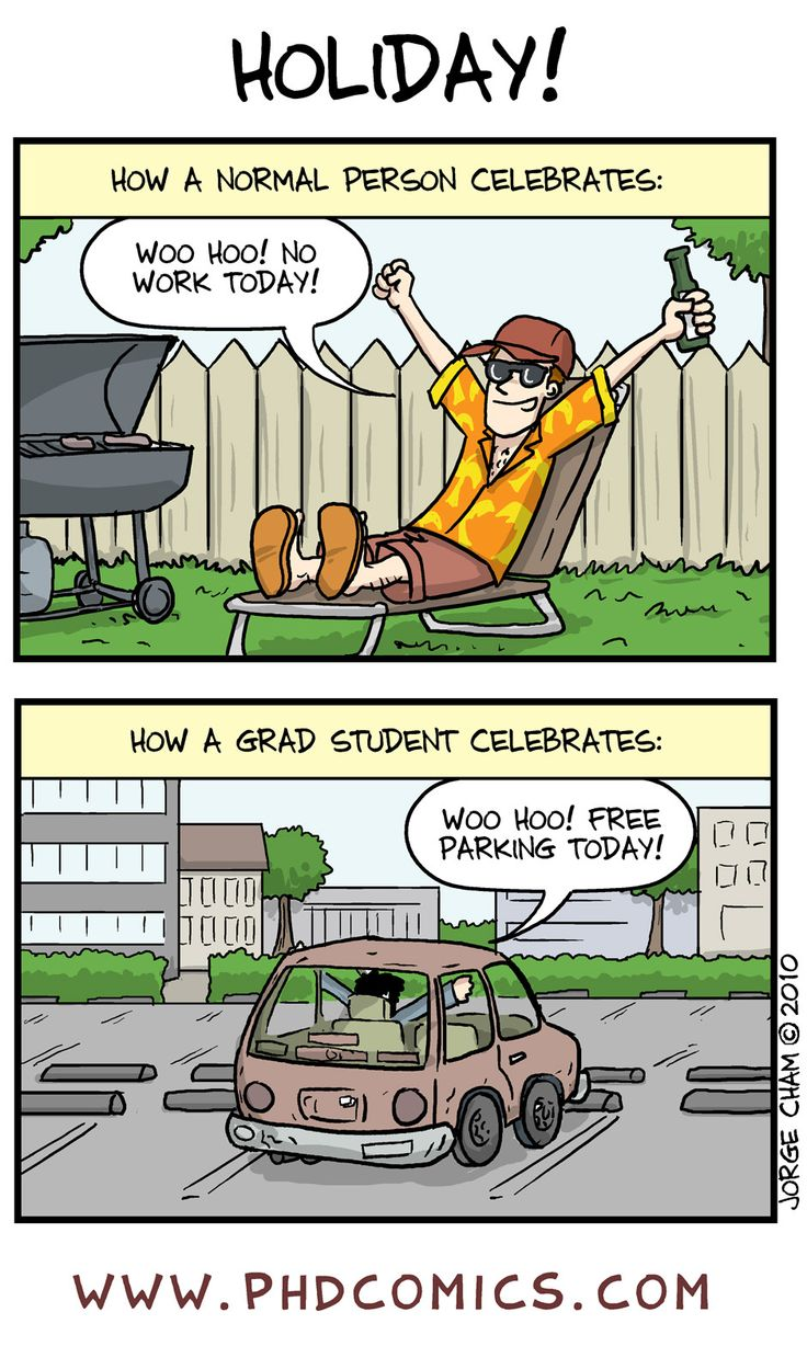 Best of PHD Comics :: How Grad Students Celebrate Holidays | Tapastic - image 1